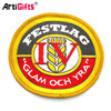 Wholesale cheap adhesive sticker woven patch
