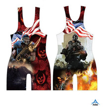 Sublimated custom sexy wrestling wear for women