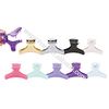 Wholesale Professional Hair Salon Wide Neon Butterfly Clamps Plastic Clips For Beauty