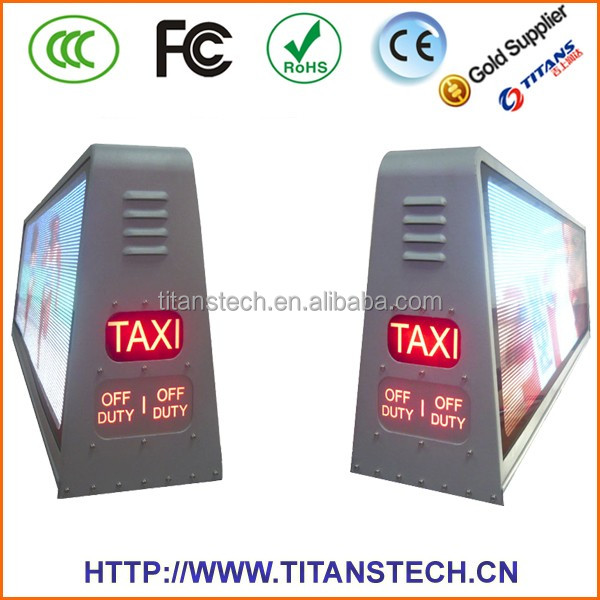 Taxi Roof Advertising Message Signs Truck Mounted Can Bus LED Display Board