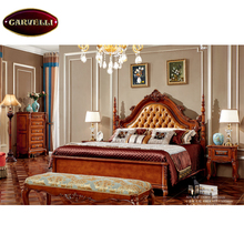 118-A09 European royal luxury alibaba china home furniture fancy solid wood carving wooden bedroom furniture