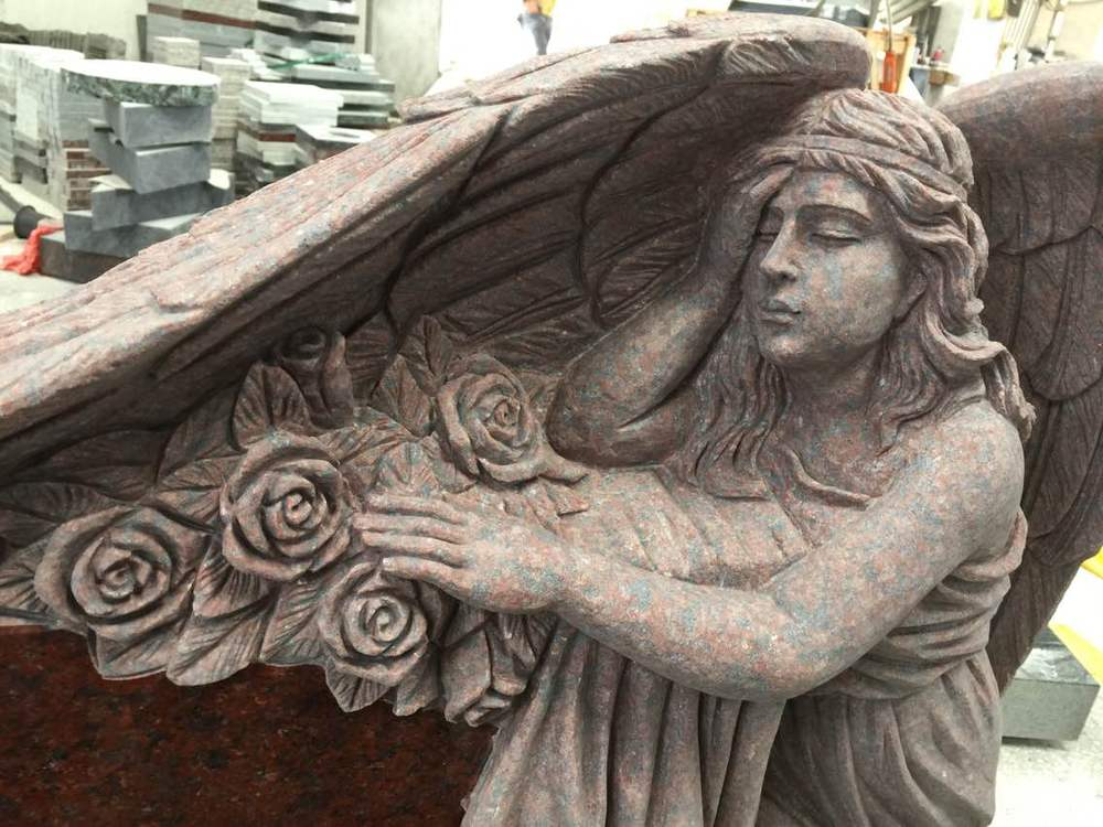 granite angel cemetery monuments/tombstone/headstones/gravestone/cheap headstones