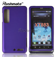 For Motorola Droid 3 XT862/XT883 Hard Rubberized Purple Crystal Cover Case