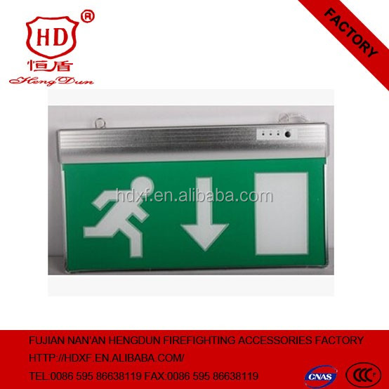 2016 new factory price wholesale price Emergency exit sign board/Fixture fire exit sign led