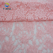 Guangzhou lace nylon stretch lace material composition lace fabric scallop for lingerie