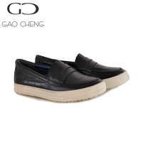 MK131-1 Black crocodile leather woman sneaker Korean brand woman casual shoes