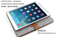 Eco friendly handmade felt case for ipad air in bulk for sale made in China