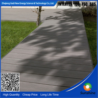 China beautiful waterproof WPC decking for garden and park wpc wood plastic plank flooring