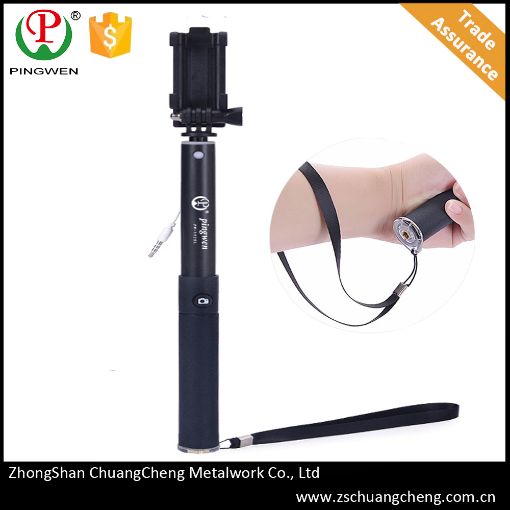 2016 teenagers wired selfie stick foldable all-in-one cable top quality folding mobile phone selfie stick