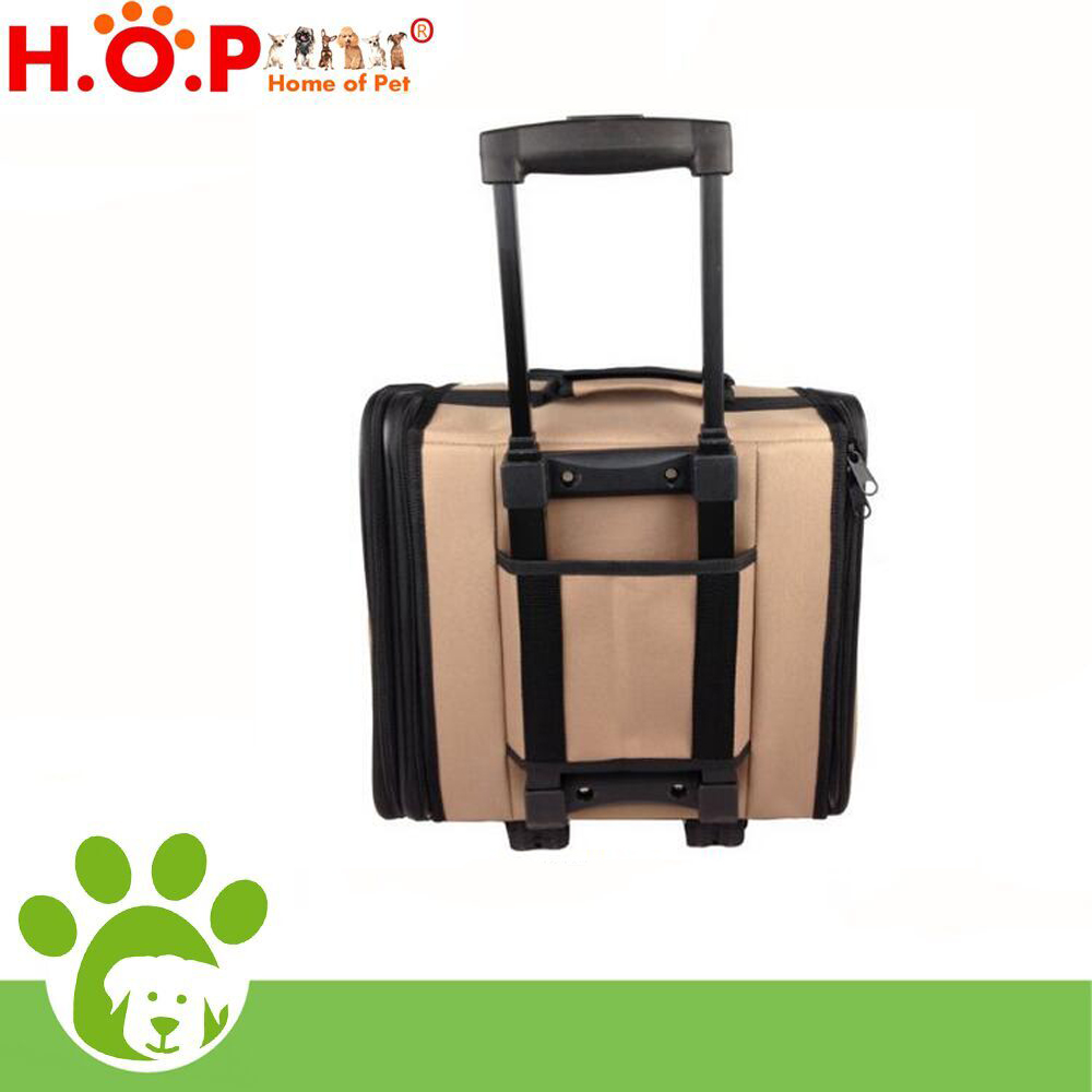Collapsible aluminum pet dog cage trolley portable mesh cat bag shoulder bag handmade dog house