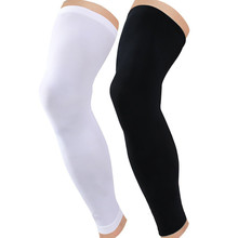 Ebay hot sale long knee compression sleeve brace for powerlifting,running,basketball