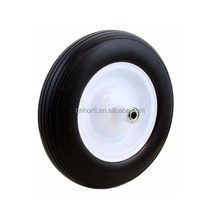 wheel barrow tire 4.80/4.00-8 solid pu foam rubber wheel