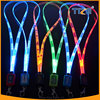 LED Light Up Neck Strap Band Lanyard key chain ID Badge Hanging Rope