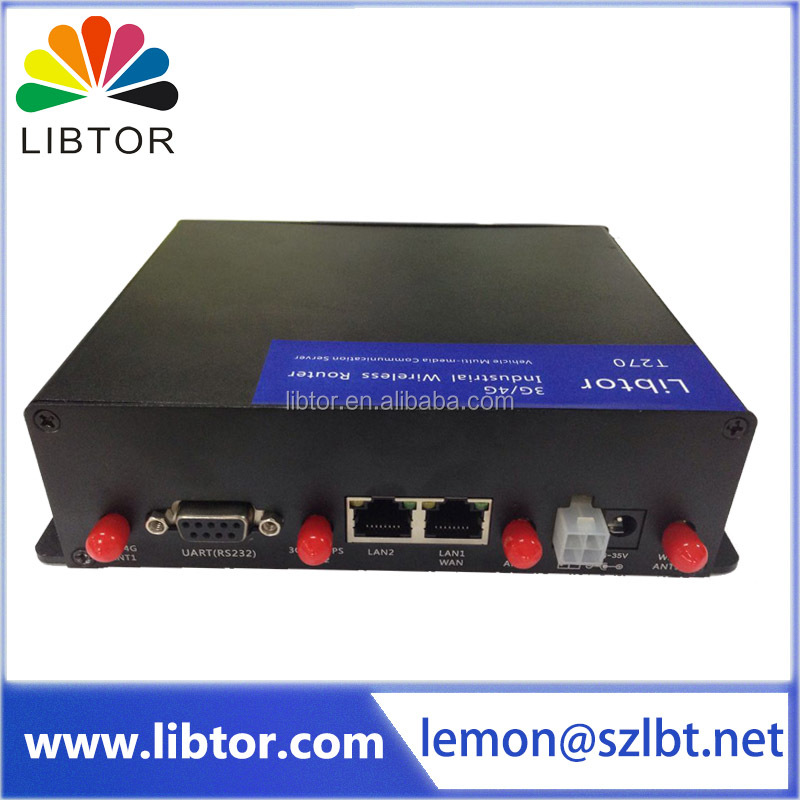 gsm wireless transmission gprs modem 4G to serial port industrial router supporting GPS function for M2M application