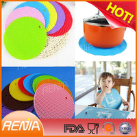 RENJIA orange placemat orange silicone pastry mat orange kitchen mat