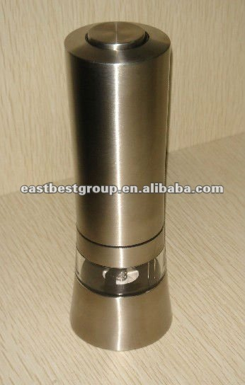 Stainless steel electric salt & pepper mill wood salt peper grinder