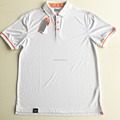 factory 100% polyester uniform fashion men custom white polo shirt