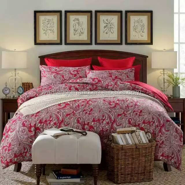 New design 3pc bedding set,cotton printed bed cover set