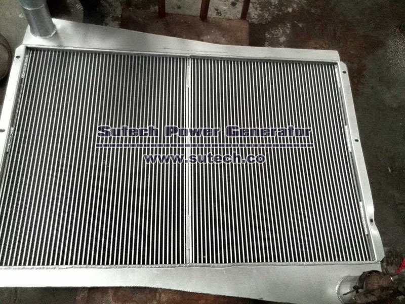 Copper core water radiator for NTA855-G1 series engine