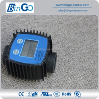 Digital adblue flow meter for oil, fuel with display
