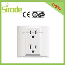 EU/UK/USA 2G universal American standard wall electrical socket outlet