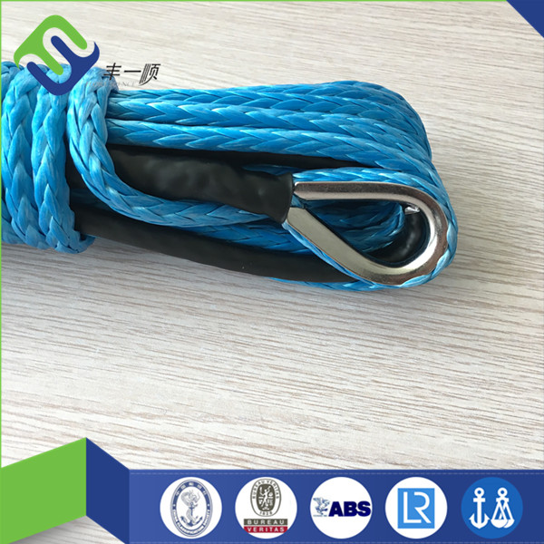 1/4*100ft Blue Synthetic Rope, WINCH LINE HOT SALE