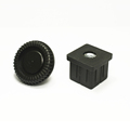 40mm Plastic square end cap and plug for tubing