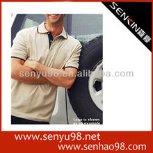 2013 new design 100%cotton workshop polo shirt made in guangzhou manufacturer OEM