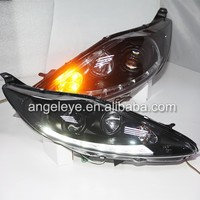 For FORD For Fiesta LED Strip Headlight with Bi Xenon Projector Lens 2009-2013 Year SN