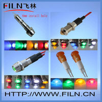 5mm led indicator light red color 110v indicator lamp red with wire