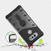 Hot selling fashion anti shock 360 kickstand TPU with PC 2in1 back cover phone case for LG V20