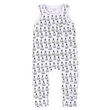 Howell 95% cotton sleeveless camp print newborn clothes baby boy girl jumpsuit romper