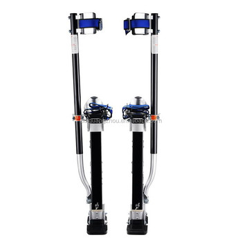 "Drywall Stilts Black Magnesium Adjustable 18""-30"" Pentagon Tools 1151"