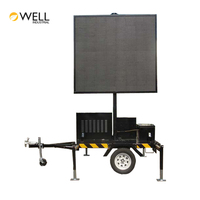 High Quality Solar Powered Systems Display Sign Voiture B Size Mobile Road Led Mounted Trailer Vms Boards