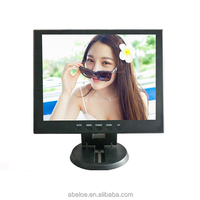 "Best price 12"" inch lcd 800X600 VGA DVI AV TV 12v monitor"