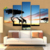 Factory price top quality Sunset giraffe paintings art on canvas for home decoration