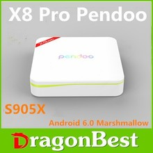 2016 High Quality Pendoo X8 Pro+ Android 6.0 Amlogic S905x tv box Full HD Media Player Network Player Network set Top Box