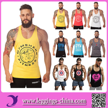 2016 Tank08 100% Cotton GYM Bodybuilding Mens Stringer Tank Top Wholesale