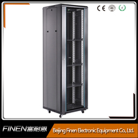 FINEN 19 inch 22u Server Rack with flat glass door