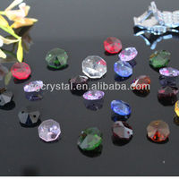 Glass octagon beads