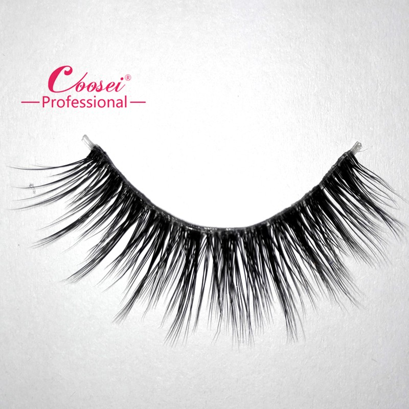 Individual clear band white false mink eyelashes with custom made packaging available
