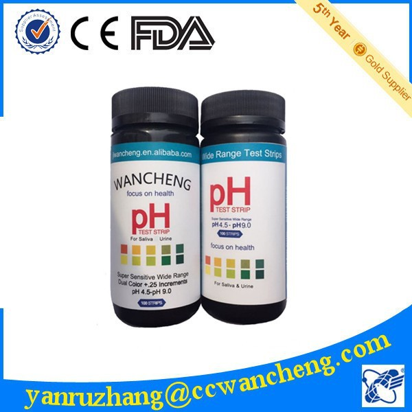 2015 new label 4.5-9.0 ph test strip, clinical ph indicators