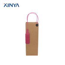 High quality selling grocery packing recycle brown kraft paper wine bags for girls