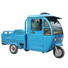 three wheels 2 passengers van heavy load cabin tricycle for cargo