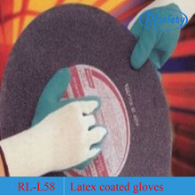 13g nylon palm coated foam latex engineering work gloves