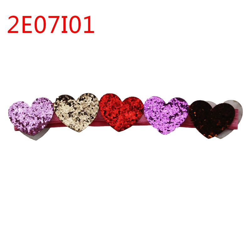 Fashion beautiful baby kids red peach heart headband for baby hair accessories