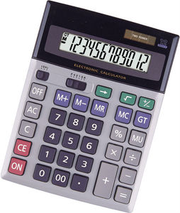 big dislay and two power 12 digits calculator