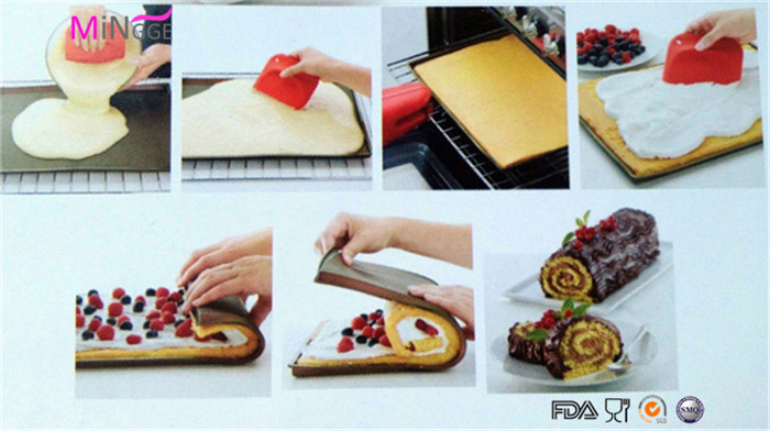food grade non-stick silicone Swiss cake bread roll baking molds
