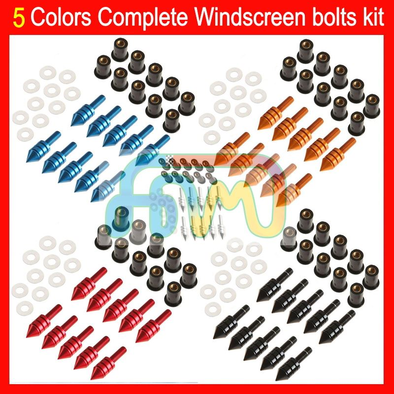 5 Colors Complete Windscreen bolts full screw kit For SUZUKI GSXR600 GSXR750 GSXR1000 GSXR1300 Nuts Windshield bolt screws