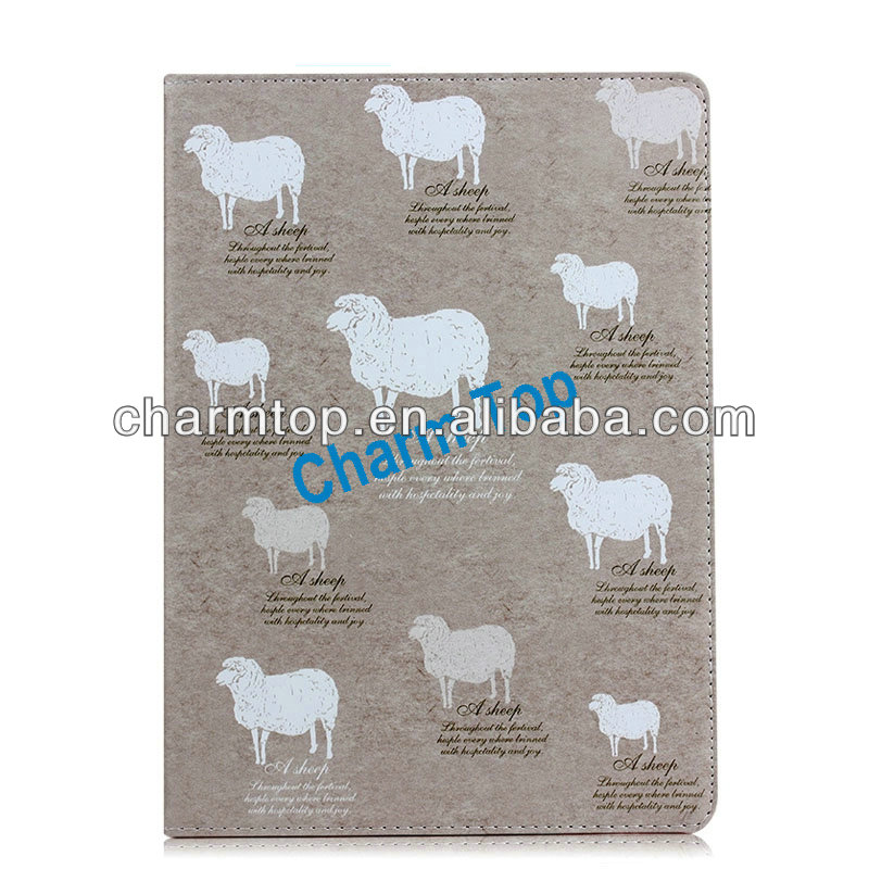 Sheep Design Stand Leather Cover For iPad 5 iPad Air